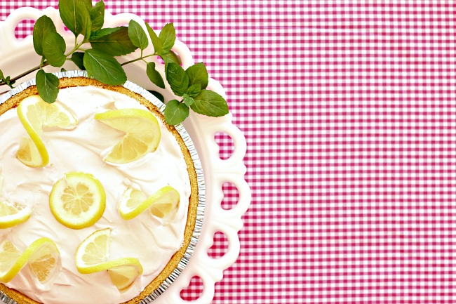 Lemonade Icebox Pie, Pink Lemonade Pie, easy dessert, no bake dessert