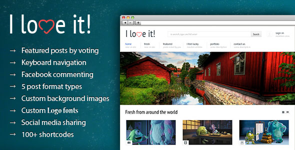 I Love It! - Content Sharing Wordpress Theme Free Download by ThemeForest.