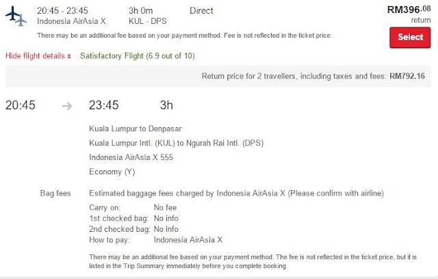 Flight AirAsia KL-Bali
