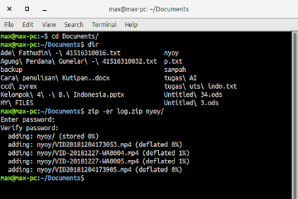 Cara Compress Folder Pakai Password Menggunakan Terminal