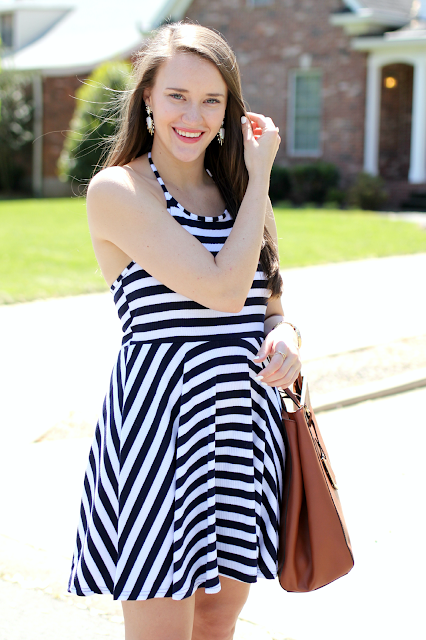 MINKPINK Stripe Halter Dress