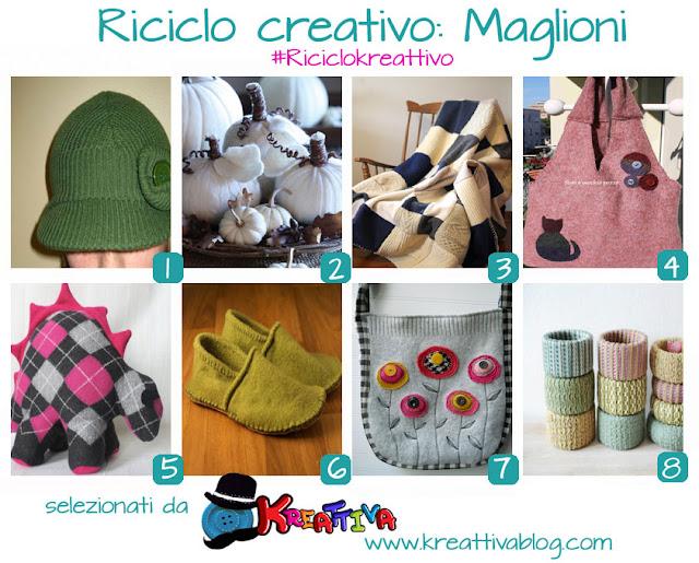 riciclo creativo maglioni