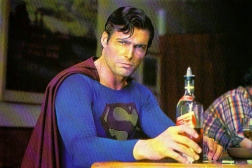 Superman 3 Christopher Reeve drunk drinking