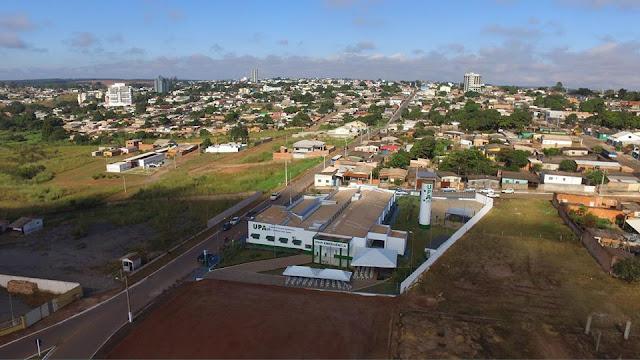 Vista aérea da UPA Cristalina Goiás