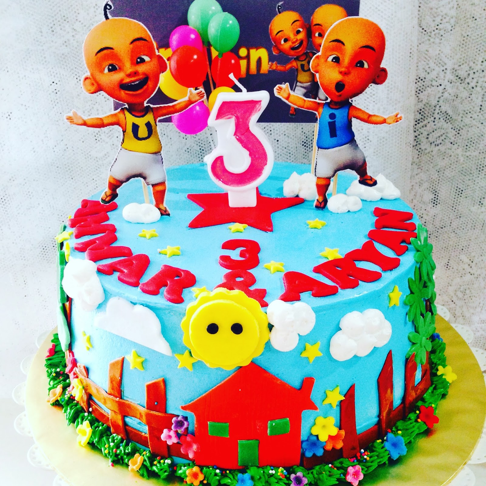 Design Cake Upin Ipin Bjaydev for