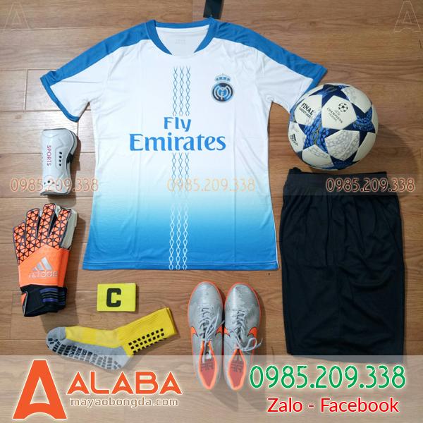 Áo Đá Bóng CLB Real 2019 Màu Trắng