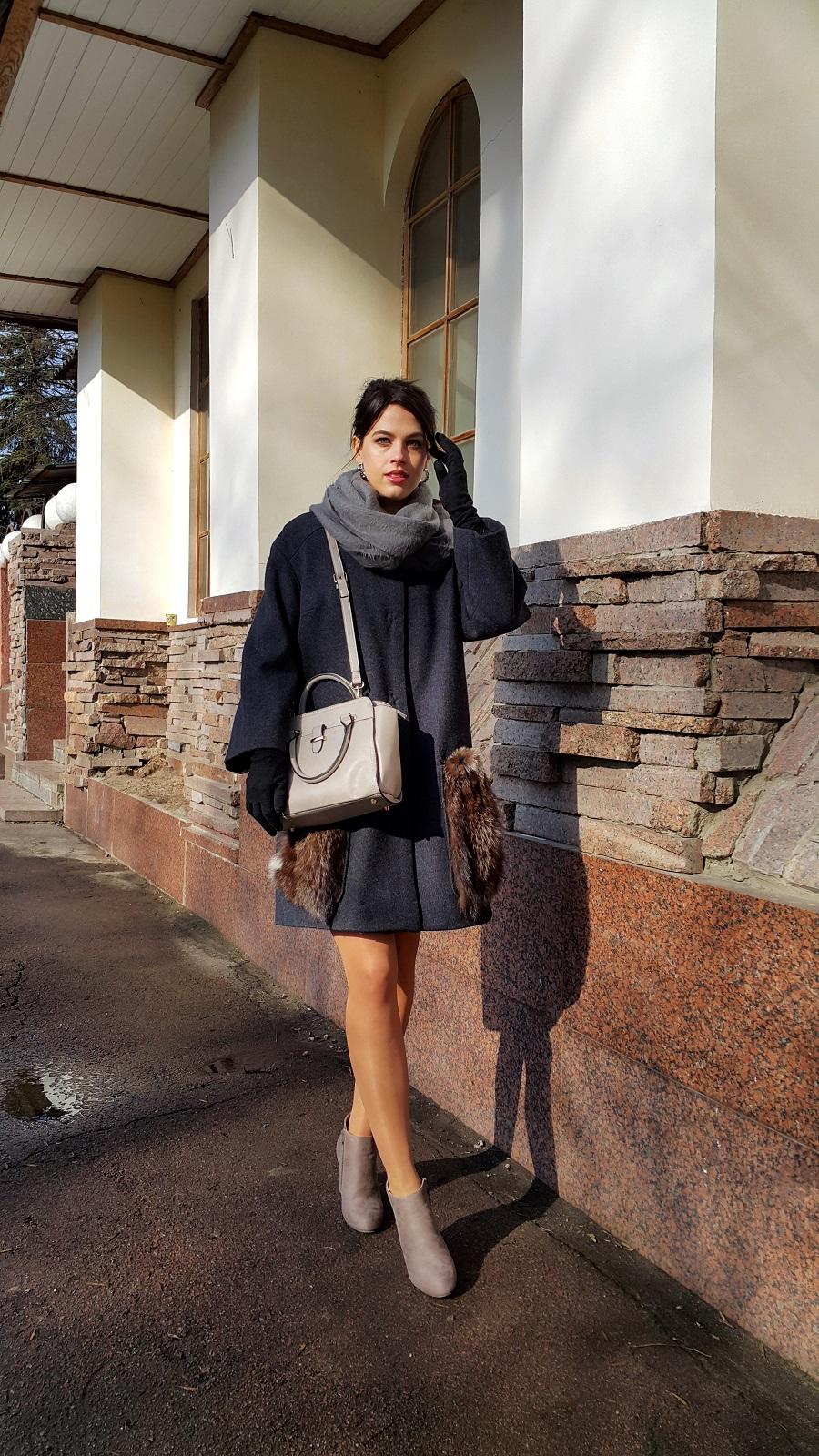 пальто, пальто с меховыми карманами