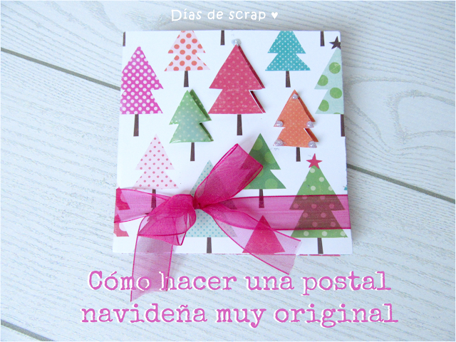 scrap tutorial video youtube postal navidad original