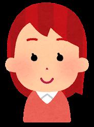 赤い髪の女の子のイラスト