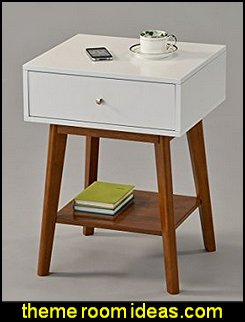 mid century side table  mod retro home decor