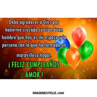 Feliz Cumpleaños para mi esposo o novio cristiano Agradecer a Dios