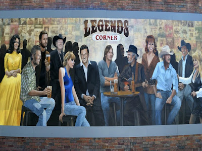 The Country Legends Wall Mural in Nashville, Tennessee
