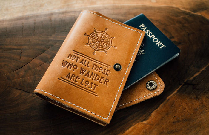 15+ Of The Best Traveler Gift Ideas Besides Actual Plane Tickets - Lord Of The Rings Quote Passport Cover