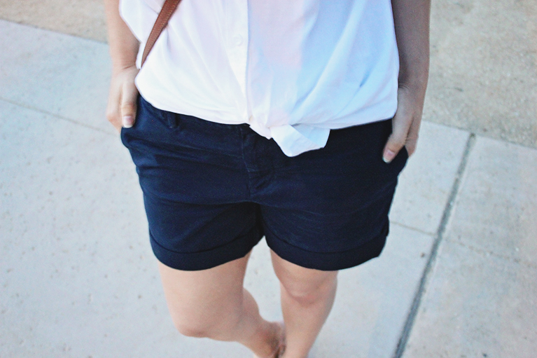 Banana Republic chino roll-up shorts
