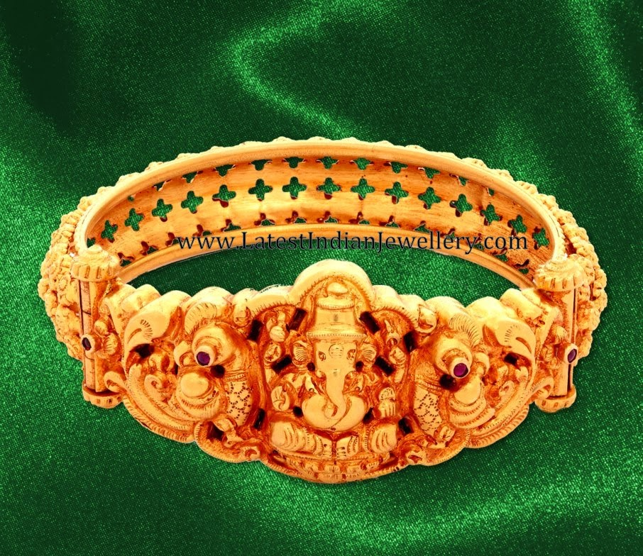 Temple Jewellery Gold Kada Bangle