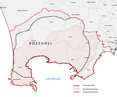 Campi Flegrei: vecchia zona rossa, nuova zona rossa e linea nera Orsi