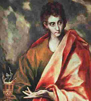 a photo of an oil painting of The Apostle John the writer of the book of Revelation