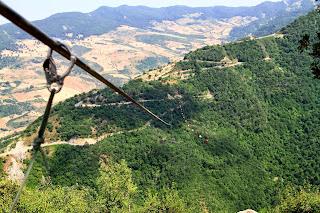 zip line in Italy, Italian alps,