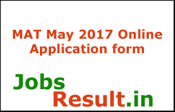 MAT May 2017 Online Application form