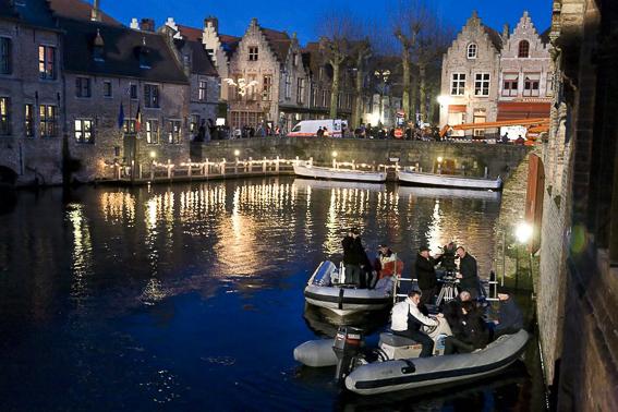 Rozenhoedkaai Bruges-Localizacion escondidos en Brujas