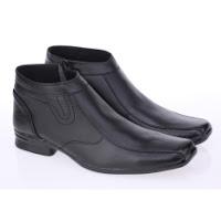 daftar harga sepatu pria terbaru Raindoz Sepatu Formal Boots PDH PDL Kerja Kantor Fashion Boots Kulit Asli RUU1325 - Hitam