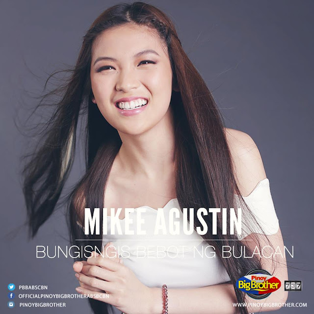 Mikee Trixia Agustin is the first ever pbb 737 regular housemate announced on it's showtime.