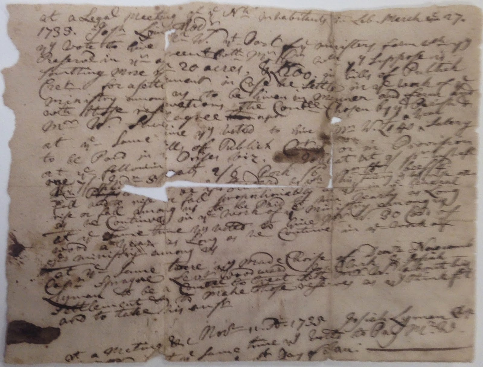A handwritten page of text.