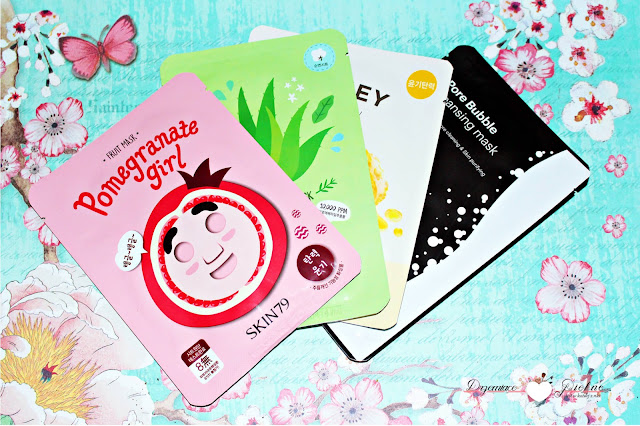 SKIN79 Fruit Mask Pomegranate Girl - Antyoksydacyjna Maska w Płacie | It's Skin The Fresh Mask Sheet Maska w Płacie Honey | SKIN79 Pore Bubble Cleansing Mask Maseczka do Twarzy | SKIN79 Fresh Garden Maska w Płacie - Aloe