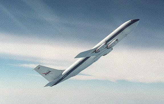 Um dos aviões de gravidade zero da Nasa