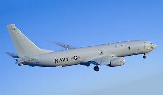 U.S. Navy sent a P-8A aircraft