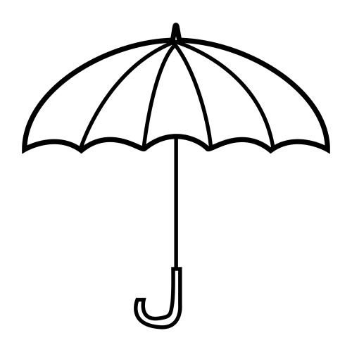 recursos educacion infantil dibujos para colorear paraguas