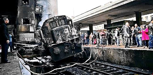 حادث قطار رمسيس اليوم | شاهد بالفيديو لحظة انفجار حريق محطة مصر - حادث  محطة مصر اليوم -حادث الفطار