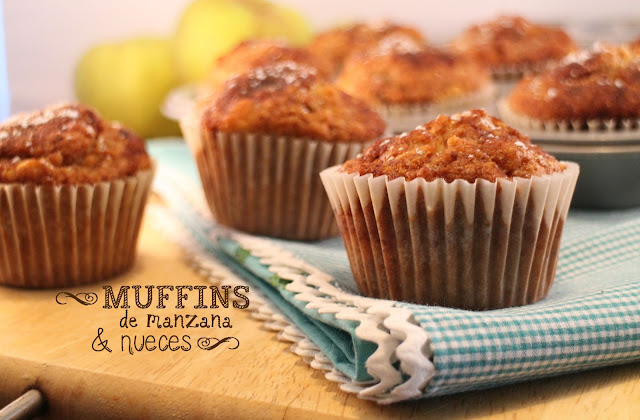 apple-nuts-muffins, muffins-de-manzana-y-nueces