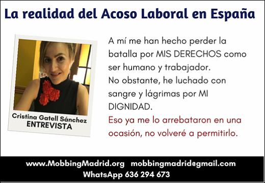 La realidad del Acoso Laboral en España
