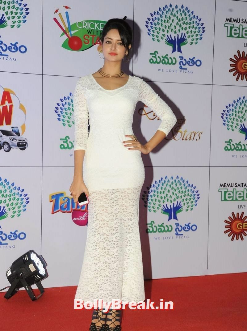 Telugu Actress Shanvi, Actress Shanvi Hot Sexy Pics in White Dress