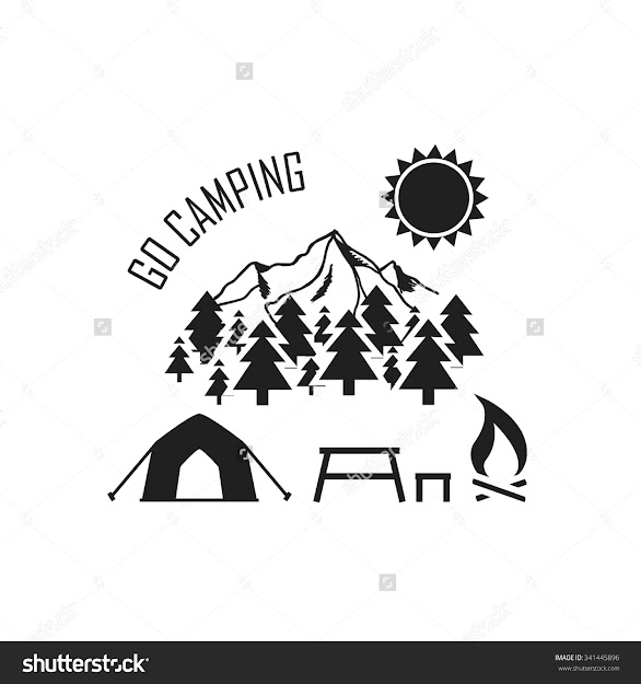 Go Camping Vector Illustration With Tent