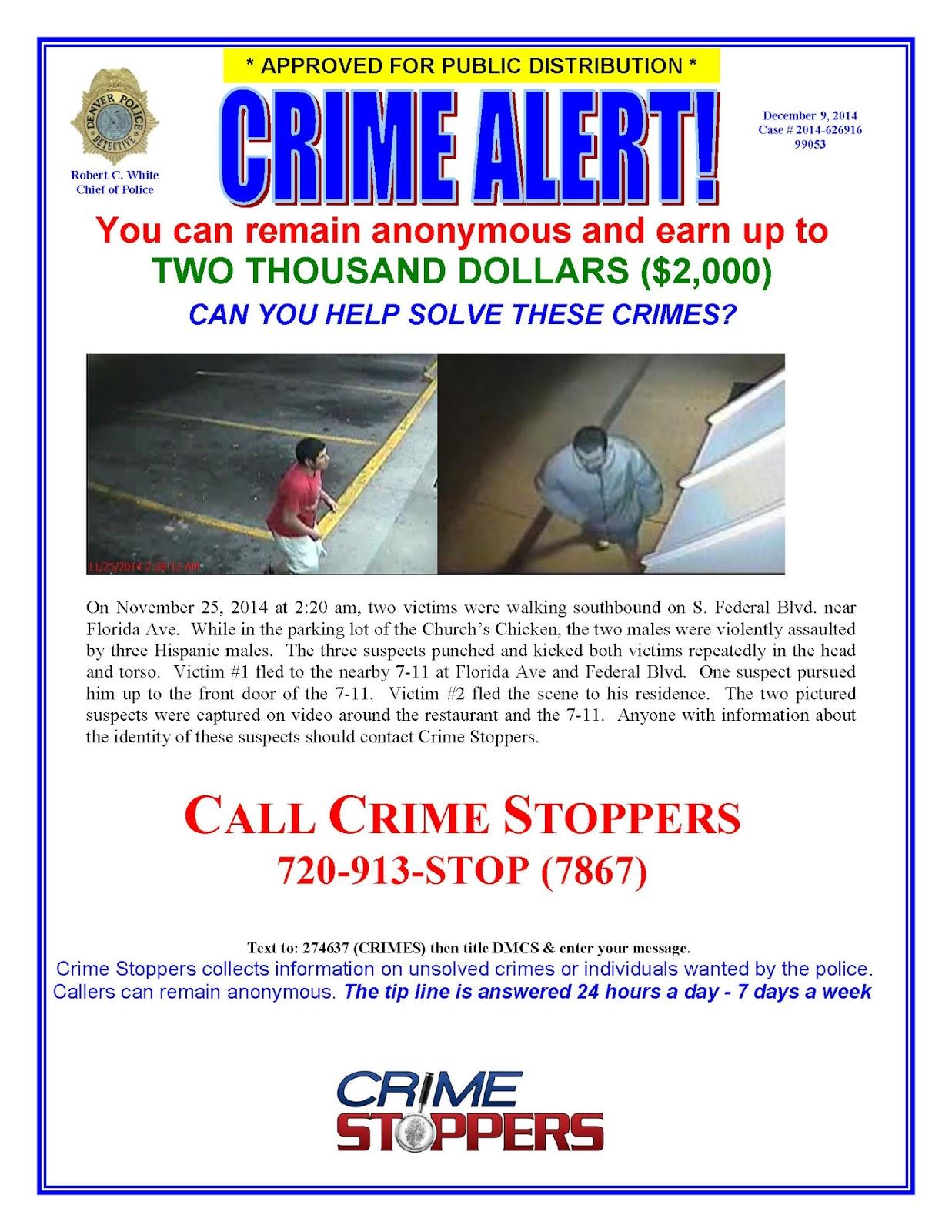 Denver Direct: CRIME ALERT - 12-9-2014