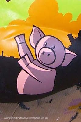 M P Davey pig henson large pig illustration