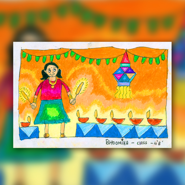 Easy Handmade Diwali Paintings