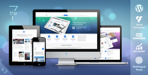 Premium Responsive The 7 WP Template