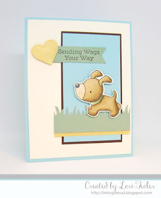 Sending Wags Your Way card-designed by Lori Tecler/Inking Aloud-stamps and dies from My Favorite Things