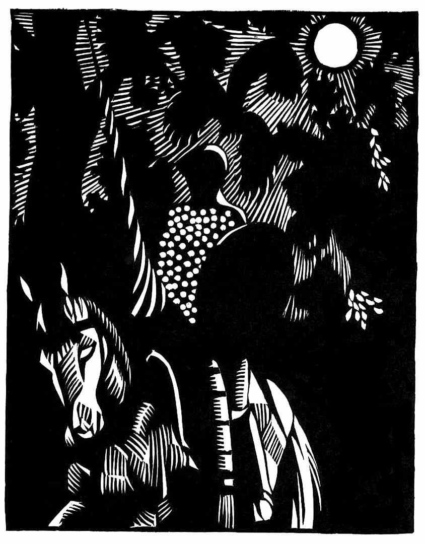 Hermann Paul 1929 woodcut for Don Quixote