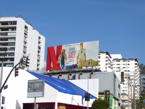 Santa Clarita Diet series launch billboard