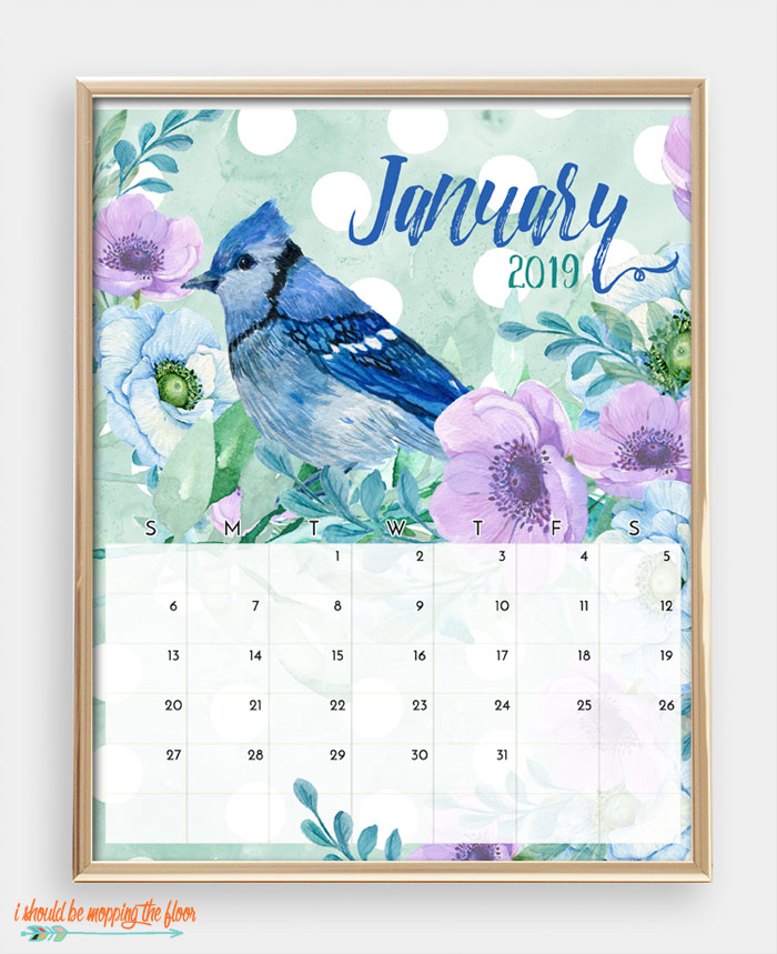 January Bird Calendar