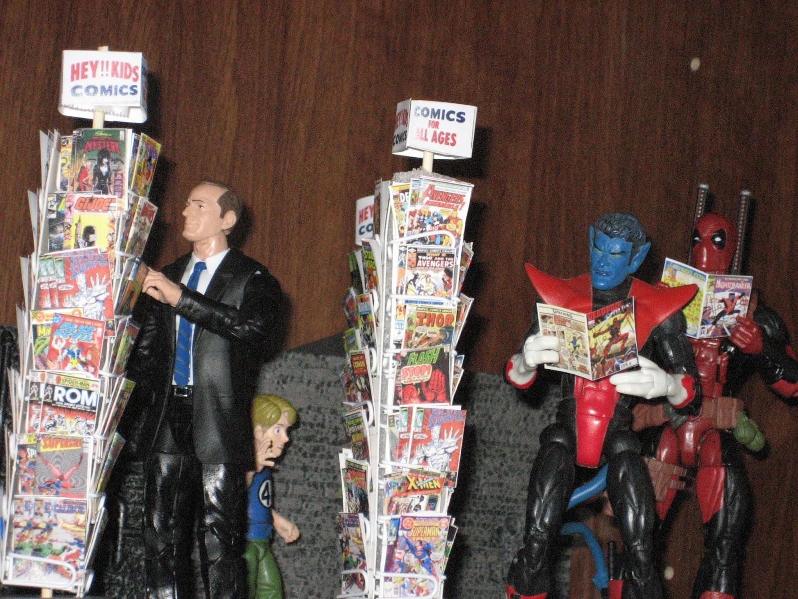 own miniature comic book spinner rack