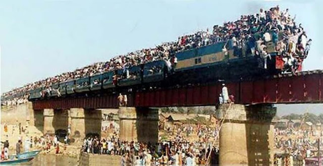 ركوب القطار في بنغلاديش