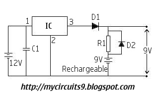 Battery voltage backup circuit