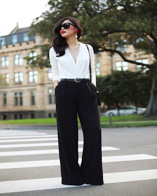 outfit con pantalón corte recto