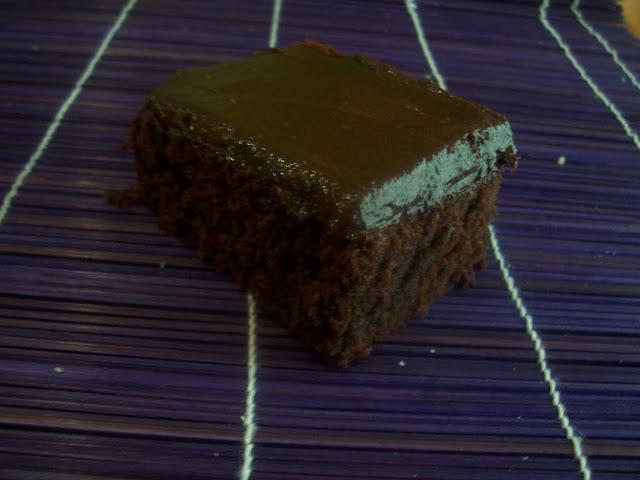 Brownies con Mascarpone y Glasa de Chocolate
