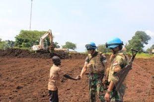Kompi Zeni TNI di Afrika Tengah Clearing Lahan Camp Kontingen Burundi